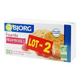 Bjorg Fourrés framboises BIO les 2 paquets de 175 g