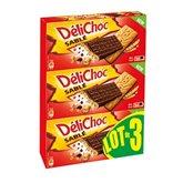 Biscuits Délichoc Sablé chocolat noir - 3x150g