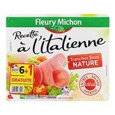 Fleury jambon italien sans couenne tranche fine x6 117g