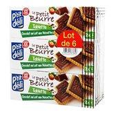 Biscuit petit beurre P'Tit Deli Chocolat /noisette - 6x150g