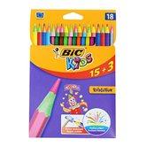 Crayons de couleur Bic Kids evolution x15