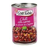Chili con carne Côté Table Au piment de Cayenne - 400g