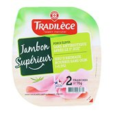 Jambon supérieur Tradilège 2 tranches - 70g