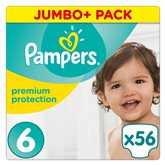 Couches Premium protect Pampers T6 Jumbo + - x56