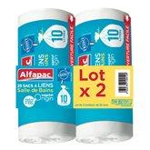 Sacs poubelle à lien Alfapac Végétal - 10L -
