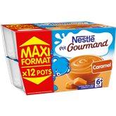 P'tit gourmand Nestlé Coupelles caramel - 12x100g