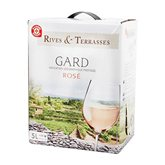 Rives et Terrasses Vin rosé  Gard IGP - Bag in Box 5L