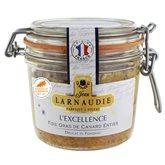 Foie gras canard Larnaudie Entier Excellence Bocal - 170g