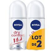Déodorant à bille Nivea Dry Confort - 2x50ml