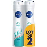 Déodorant Dry Confort Nivea Atomiseur - 2x200ml