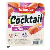 Saucisse cockail Tradilege Bacon - 300g