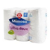 Garnier Papier toilette Mimosa Blanc - Ultra doux - x12