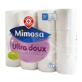 Garnier Papier toilette Mimosa Blanc - Ultra doux - x24