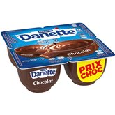 Danone Crème dessert Danette Chocolat 4x125g PRIX CHOC
