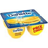 Danone Crème dessert Danette Vanille 4x125g PRIX CHOC