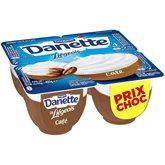 Danone Dessert Liégeois Danette café - 4x100g