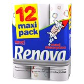 Renova Essuie-tout  Blanc maxi absorption - x12