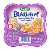 Blédina Repas bébé  - 18 mois Carottes Pâtes coquilles - 260g