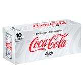 Coca Cola Soda  Light Frigo pack canette - 10x33cl