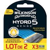 Wilkinson Lames Hydro 5  Sense Energize - Lot 2x3