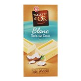 Or Chocolat Tablette D' Blanc Coco 200g