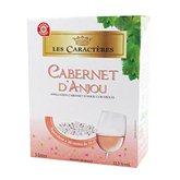 Cabernet d'Anjou Vin rosé Les Caractères  AOC - 24v. 3L