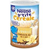 Nestlé P'tite Céréale Infantile  Lait vanille 12 mois - 400g