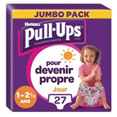 Huggies Culottes Pull-Ups  Jour Fille 2-5ans 8/17kg - x27