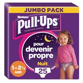 Huggies Culottes Pull-Ups Nuit Huggies Fille 1-2.5ans 8/17kg - x25