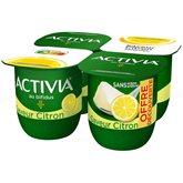 Danone Yaourt Bifidus Activia Danone Saveur citron - 4x125g