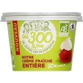 Les 300 & Bio Crème fraiche  Epaisse - 30%mg - 192g