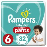 Pampers Culottes  Baby Dry Pants T6 : 15+kg - x32 changes