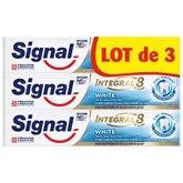 Signal Dentifrice Signal Integral 8 White - 3x75ml