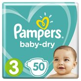 Pampers Couches  Baby Dry T3 : 5/9kg - x50 changes