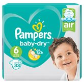 Pampers Couches  Baby Dry T6 : +15kg - x33 changes