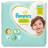 Pampers Couches  Premium Protect T6 : +15kg - x31 changes