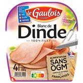 Le Gaulois Blanc de dinde Le Gaulois Sans OGM - x4 tranches - 160g