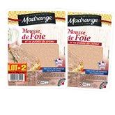 Madrange Mousse de foie Madrange et sa pointe de crème - 2x180g