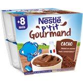 Nestlé Dessert lacté Nestlé - 8 mois Gourmand : Chocolat - 8x100g