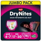 Huggies Culottes Drynites Disney Fille 4-7ans 17/30kg - x16