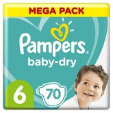 Pampers Couches Pampers Baby Dry Taille 6 - x70