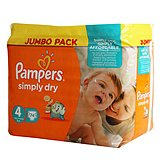 Pampers Couches  Simply Dry T4 Jumbo x74