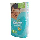 Pampers Couches  Baby Dry T3 Géant x50