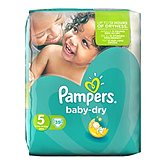 Pampers Couches  Baby Dry T5 Géant x39
